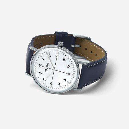 Breda Belmont Watch - Silver/Navy