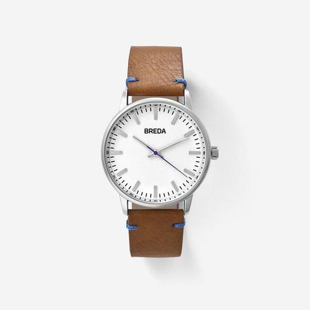Breda Zapf Watch - Silver/Light Brown