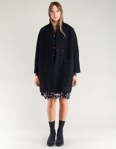 Ganni Fenn Wrap Coat - Black