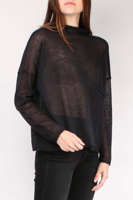 Ma'ry'ya Pocket Long Sleeve Sweater - Black