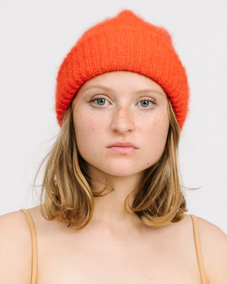 HUMANOID Fammy mohair hat - rouge