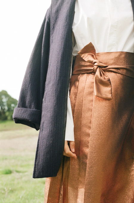 Kamperett Florence Skirt in Copper Jaquard