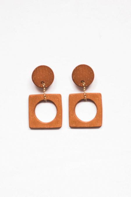 Eny Lee Parker Luci Earrings - Terracotta
