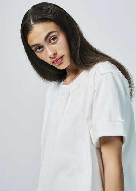 AVN Short Sleeve Twill Dress - white