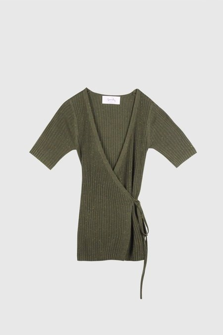 Lonely Wrap Fleck Tee - Olive