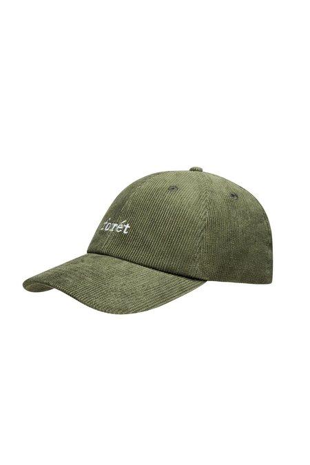 Forét Raven Corduroy Ball Cap - Dark Green