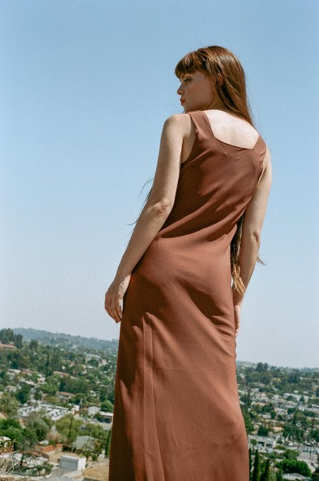 NOMIA Bias Tank Gown - Clay