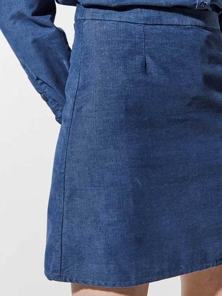 Great Plains Needle Cord Skirt - Indigo