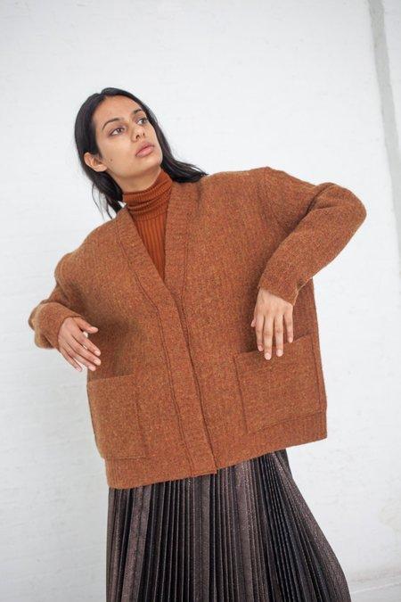 Rito Boiled Knit Cardigan - Brown
