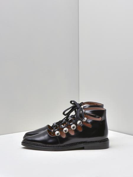 Toga Pulla Tie Loafer Leather - BLACK