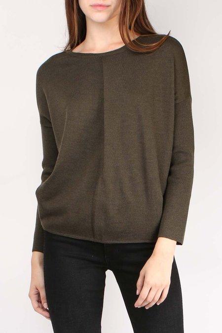 Ma'ry'ya Pleat Neck Sweater - Military