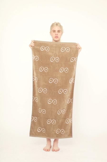 323 Essential Towel - BROWN/WHITE