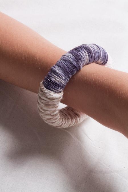 Jen Cogliantry Wrapped Bracelet - Blue/Natural Two-Toned