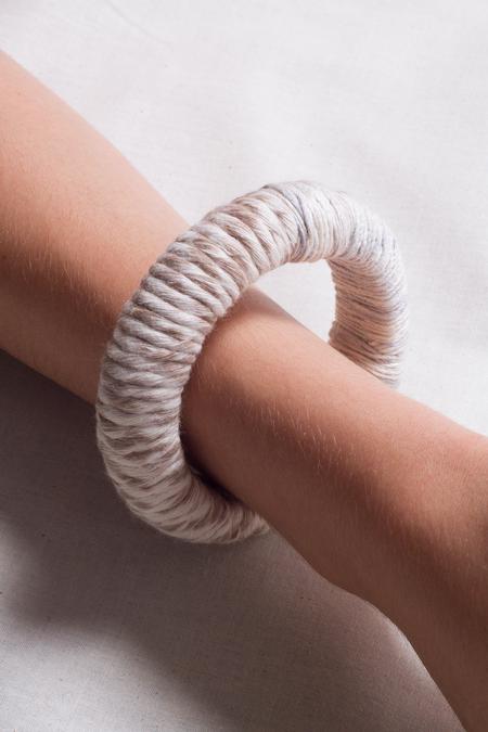 Jen Cogliantry Wrapped Bracelet - White/Natural Two-Toned