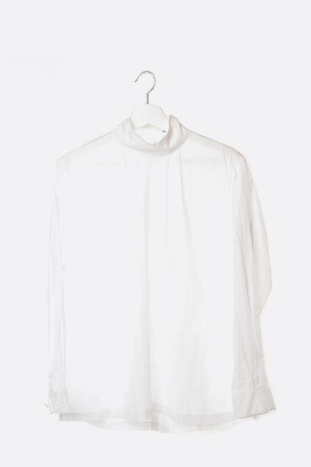 Chimala Leno Cloth High Neck Blouse - Off White