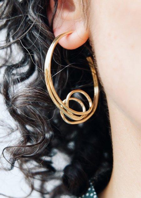 oblik atelier Mademoiselle Hoops - Gold Plated Brass