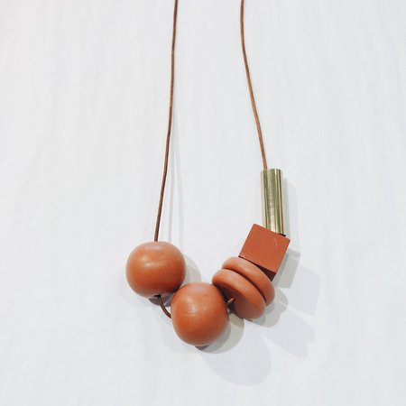 Sonia Gracia Handmade Bead Mix Necklace 2 - Terra Cotta