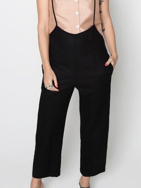 Beth Hoyt Pant - Black Linen
