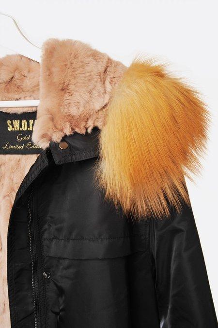 S.W.O.R.D 6644 Fur Lined Anorak - Black
