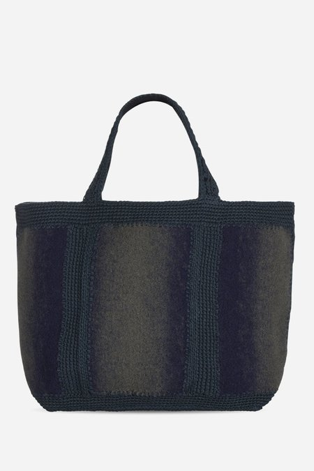 Vanessa Bruno Medium Felt Cabas Bag - Marine/Sapin