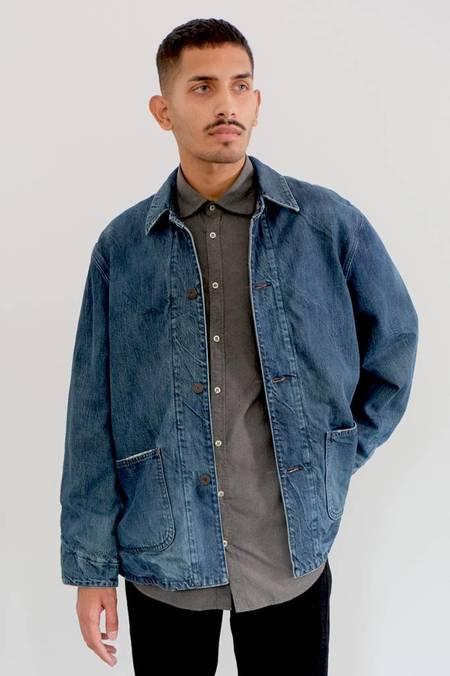 Chimala Denim X Flannel Twill Work Jacket