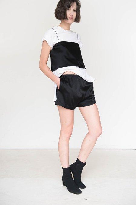 Index Series Silk Boxer Shorts - Black