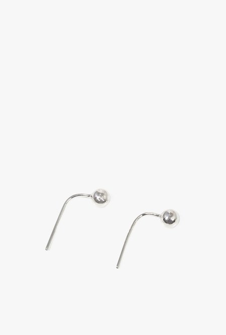 Honey & Bloom Baller Hook Earrings - sterling silver