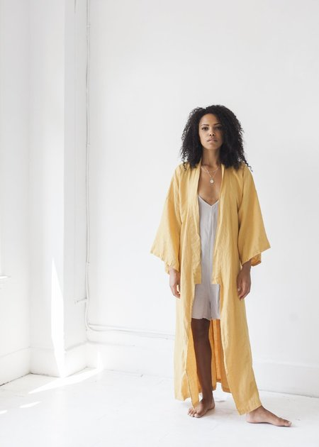 Deiji Studios The 02 Full Length Robe - Mustard