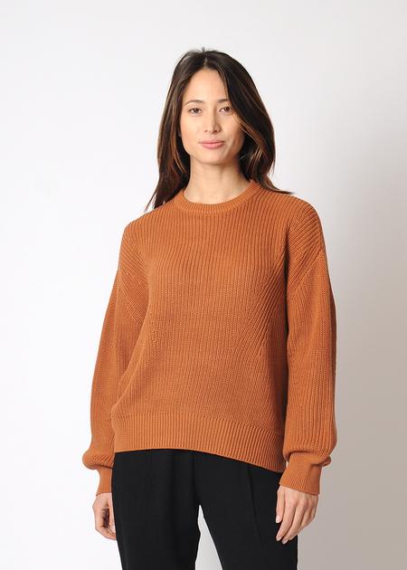 7115 by Szeki Organic Poet Sweater Rust