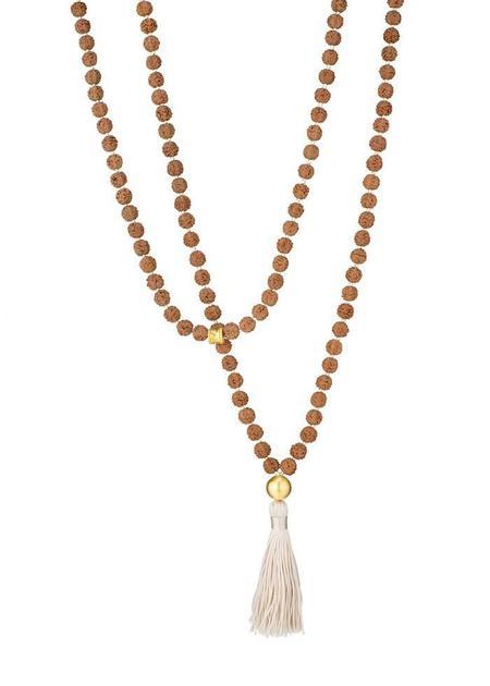 Shivaloka Buddah Mala Necklace - Ecru