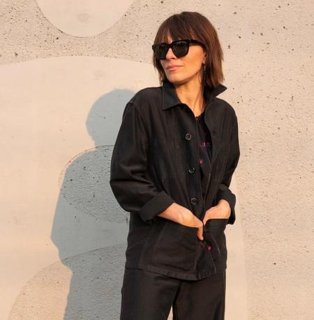 Caron Callahan Krasner Coat - Black Twill