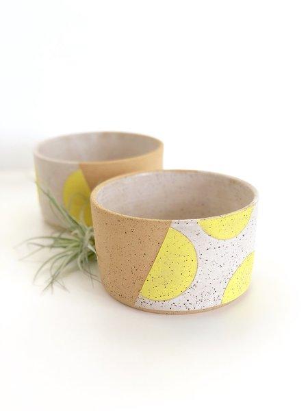 Mary Carroll Planter - Yellow Dot