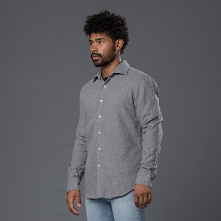 Freemans Sporting Club Flannel Hopkins Oxford Shirt - Grey
