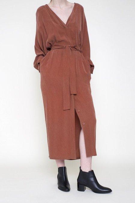 7115 by Szeki Rope Dress - Rust