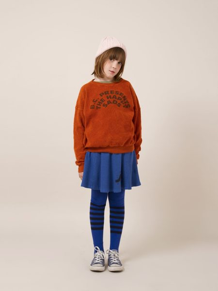 Bobo Choses The Happy Sads Fleece Sweatshirt - Dark Orange
