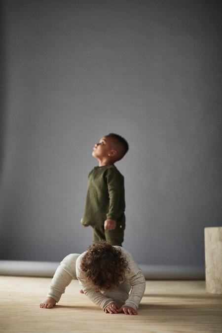KIDS Bacabuche Melange Mesh Henley - Forest