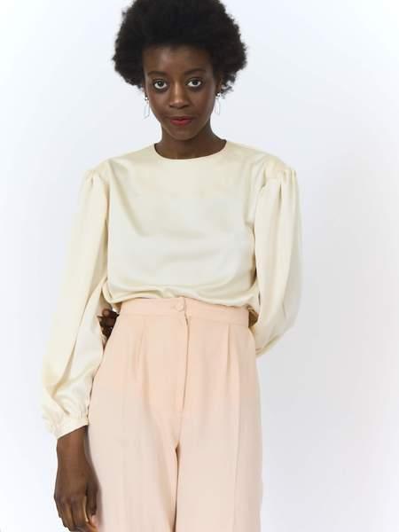 Daisy dress Silky Loose Fit Blouse - Cream