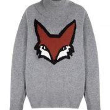 Markus Lupfer Erin Super Soft Fox Jumper - Grey