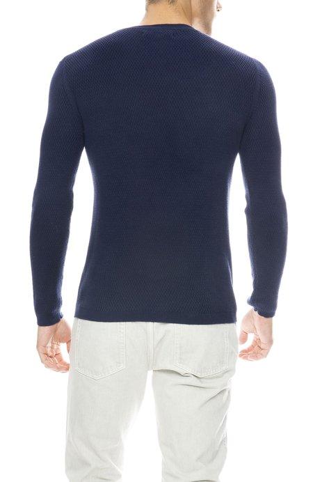 Outerknown Caravan Crew Sweater - DARK COBALT