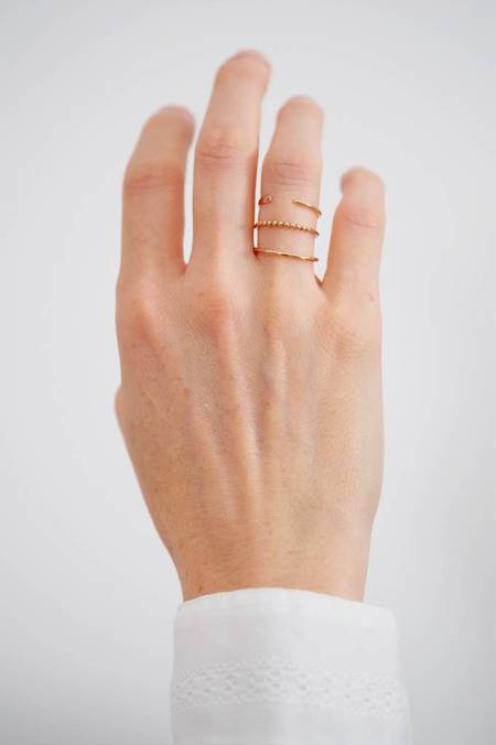 Susumi Studio Split Band Ring - 14K Rose Gold