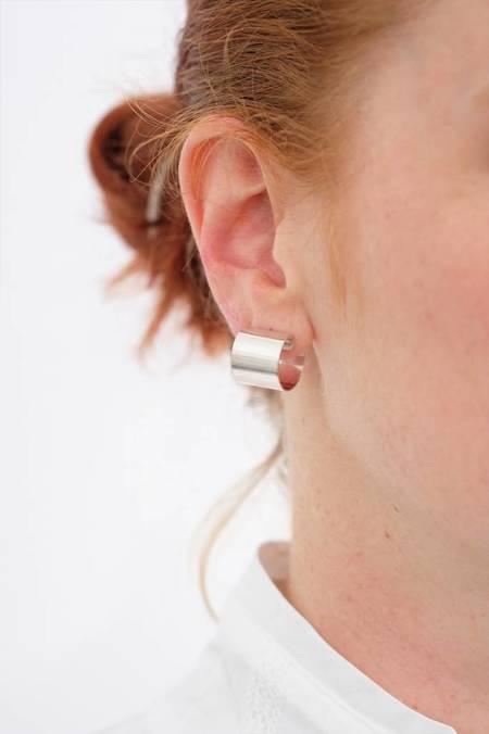 Kristen Elspeth Armor Hoop Earrings - Sterling Silver