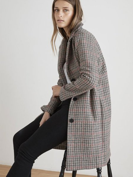 Velvet Graham Check Coat - Multi