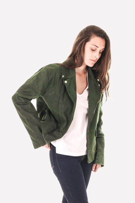 Vaute Couture James Waxed Moto Jacket