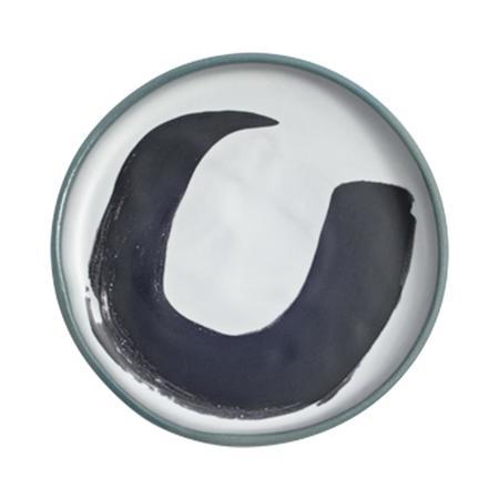 Kaz Morton Ceramics Medium Peony Plate - Speckle