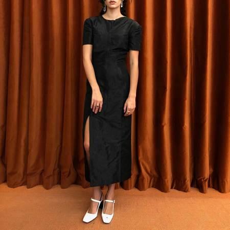 Priscavera Asymmetrical Mandarin Dress