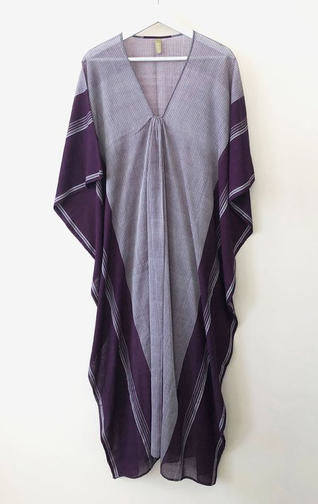 Two Stripe Caftan - Plum