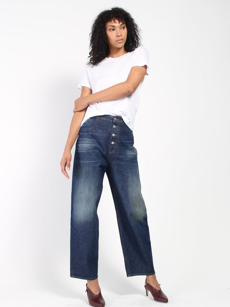 MM6 by Maison Margiela Button Fly Jeans - Blue
