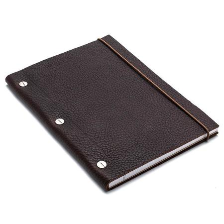 La compagnie du kraft Medium Leather Notebook - Cohiba