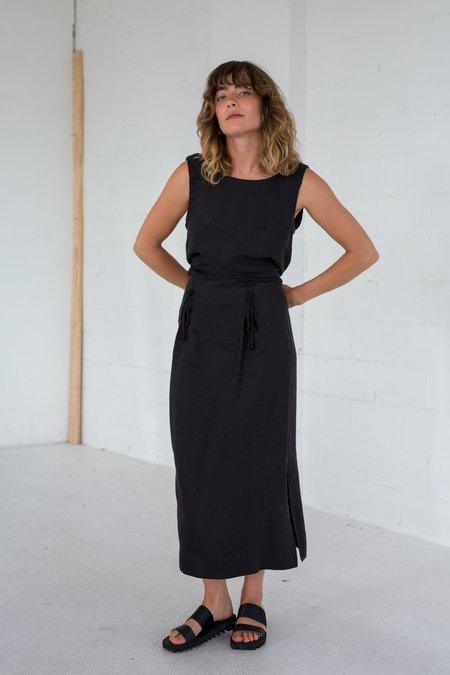 Lois Hazel Knot Skirt - Black