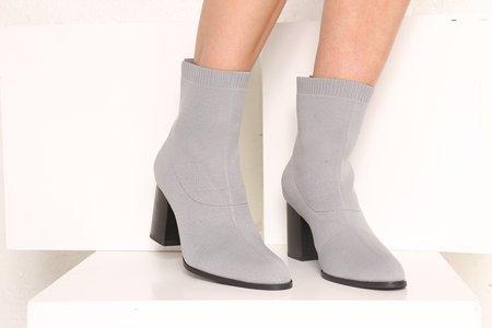 """INTENTIONALLY __________."" Jane Boot - Grey Knit"